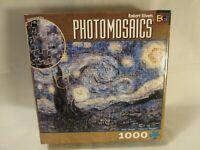 Photomosaics Van Gogh Starry Night 1000 Piece Jigsaw Puzzle & Poster Silvers