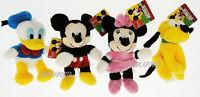 Peluche Paperino Pluto Minnie e Topolino Originali Disney Morbidi 16-21 cm Plush