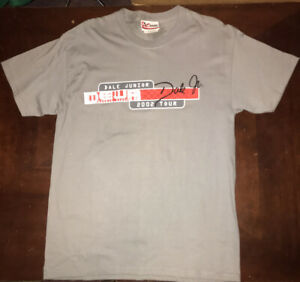 "Dale Earnhardt Jr. #8 ""2002 Tour"" ""Speed Personified""Nascar Grey T-Shirt (M)"