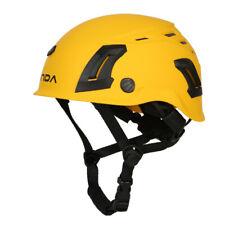 Vent Helmet Yellow Rock Climbing Caving Rescue Mountaineering Helmets 53-61cm