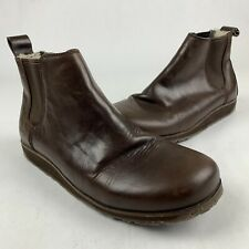 EMU Razorback Brown Leather Ankle Boots Sheep Skin Backs Mens 12 Womens 13