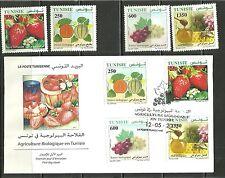 2012- Tunisia- Tunisie-  Organic Farming in Tunisia/4 Stamps+FDC.