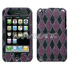 Pink Black Plaid Hard Case Cover Apple iPhone 3G 3GS
