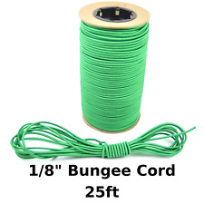"""25ft 1/8"""" Green Bungee Cord Marine Grade Heavy Duty Shock Rope Tie Down Stretch"""