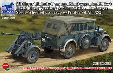 Bronco 1/35 35209 Mittlerer Einheits PersonenKraftwagen K.fz.12&2.8cm spzB41