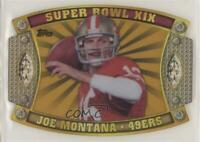 2011 Topps Super Bowl Legends Giveaway Die-Cut Prizes Gold /99 Joe Montana HOF