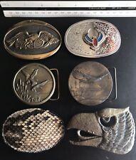 Buckles Eagles Geese Snake 6 Wildlife Animal Belt