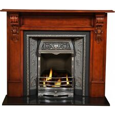 "FIREPLACE SURROUND TIMBER MANTELPIECE-RICHMOND ""cognac"" MANTLE-suits Jetmaster"