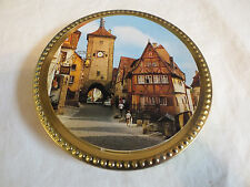Collectible Frankonia Schokotaler German French Empty Chocolate Tin Souvenir