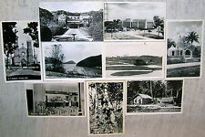 Lot of 9 Vintage Trinidad Real Photo Postcards