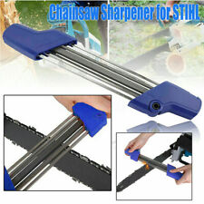 2 IN 1 Easy Chainsaw File Sharpener 5.5mm Replace For Stihl 7/32'' Chain Blue
