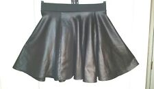 NL BLACK Faux Leather Poly Circle MINI SKIRT XS uk10eu36us6 Waist w22ins w56cms