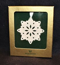 Wedgwood Pierced Snowflake Ornament