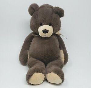 """14"""" GANZ CASEY BROWN TEDDY BEAR RIBBON BOW STUFFED ANIMAL PLUSH TOY H12193"""