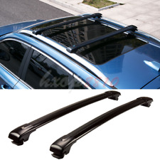 2pcs For Jeep Liberty 2004-2008 Black Alloy Roof Rack Cargo Carrier Cross Bar