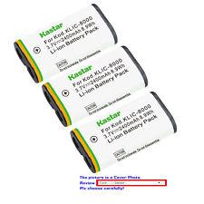 Kastar Replacement Battery for Kodak KLIC-8000 Kodak Pocket Video Camera ZX1
