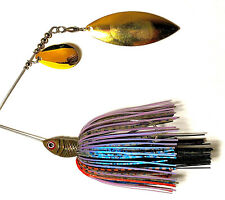 Spinnerbait Premium hand tied 1/2oz with gold Colorado/willow blades in bluegill
