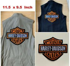 More details for xxl-harley davidson embroidered motorcycle patch/badge iron/sew on, jacket, vest