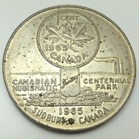 1965 Sudbury Ontario Canada Fantasy The Worlds Largest One Cent Token Coin D104