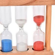 Hourglass Timer 1/3/5Min Wood Frame Glass Sand Clock Time Sandglass Decors Gift