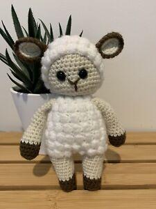 Lamb Crocheted Amigurumi Stuffed Animal Toy - Handmade