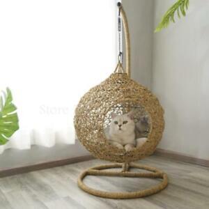 Rattan Cat Nest Winter Warm Cat Villa Universal Cat House Indoor Double-layer