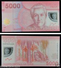 Chile Polymer Plastic Banknote 5000 Pesos 2009 UNC