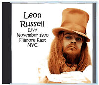 LEON RUSSELL Live at the Fillmore East in 1970 with Elton John sitting in, on CD