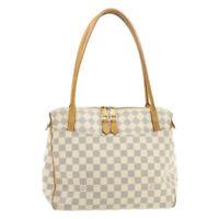 LOUIS VUITTON Damier Azur Figheri PM Tote Bag Shoulder Bag N41176 LV Auth 19855