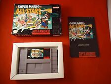Super Mario All-Stars Super Nintendo Entertainment System 1993 SNES COMPLETE