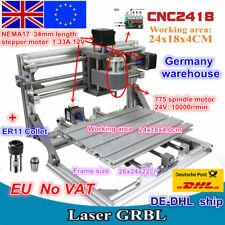 【EU】2418 Desktop DIY Mini Laser Machine CNC Router Milling Engraving&ER11 Collet