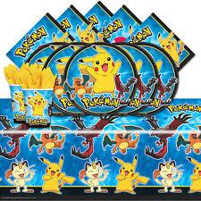 Pokemon Pikachu & Friends Childrens Birthday Party Tableware Pack Kit For 16
