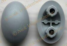 2 x Pressalit A7222 Clamp Bush Plastique Manches Gris