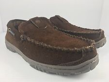 Clarks Dawson Men US 8 Brown Slip On Moccasin Slippers