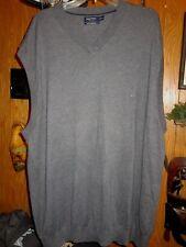 Nautica Gray Luxury Performance Golf Sweater Vest Men's Big Tall 3XLT
