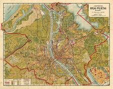 1936 map of  RIGA  (Latvia), 1:24 000/ JAUNĀKAIS RĪGAS PILSĒTAS PLĀNS - reprint