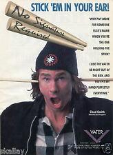 1993 Print Ad of Vater 5B Drum Sticks with Chad Smith Red Hot Chili Peppers