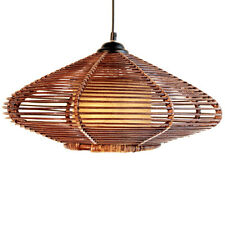 New Handmade Modern Rattan Ceiling Pendant Lamp Lighting Fixture Chandelier