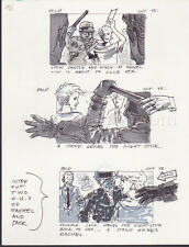 HEAD OFFICE '85 ORIGINAL STORYBOARD ART CARL ALDANA JUDGE REINHOLD RACHEL COPS