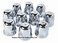 Hug a lug 33mm nut cover; plated chrome plastic; 10pk; Truck; Bling;