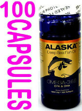 one bottle Omega-3,6,9, Deep sea  Fish Oil  EPA/DHA Flaxseed Oil 100 softgels