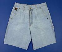 Base 92 shorts jeans uomo usato W36 tg 50 denim boyfriend bermuda comodo T5373