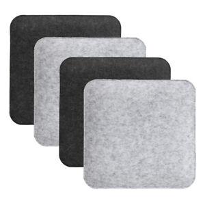 4 x Filz Sitzauflage zum Wenden Grau Anthrazit 35 x 35 cm Stuhlkissen Sitzkissen