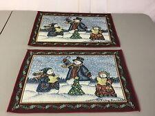 NWOT USA Made 2 Tapestry Placemats Vicky Howard Make A Joyful Noise #552Z