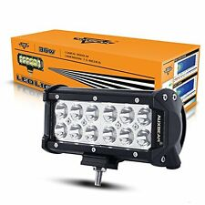 "Auxbeam 7"" LED Light Bar 36W Work Light 3600LM CREE 30 Degree Spot Beam ..."
