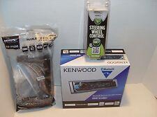 New Harley Touring Marine Kenwood KMR-D368BT Bluetooth Radio Stereo Adapter Kit