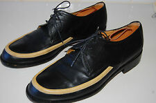 VINTAGE GIORGIO ARMANI DARK NAVY LEATHER MEN'S SHOES MADE IN ITALY 11.5 US