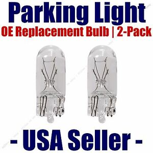 Parking Light Bulb 2-pack OE Replacement Fits Listed Ford Vehicles - 168