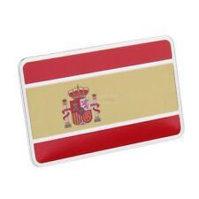 SP Spain National Flag Metal Side Rear Truck Emblem Badge Decals Sticker