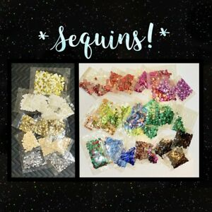 *48*  Vtg Individual Craft Project Packs Of Sequins - Assorted Colors - Sealed